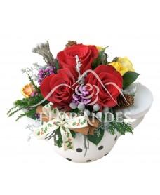 Ceainic trandafiri si brunia