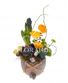 Aranjament floral cu zambile