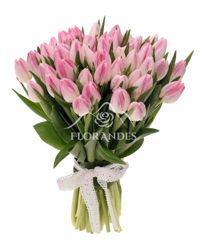 Buchet de 51 lalele roz