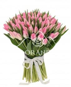 Buchet de 101 lalele roz