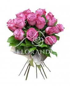 Buchet de 17 trandafiri mov