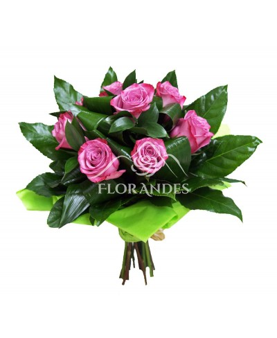 Buchet de 9 trandafiri mov