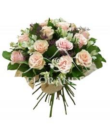 Buchet de trandadfiri roz si alstroemeria