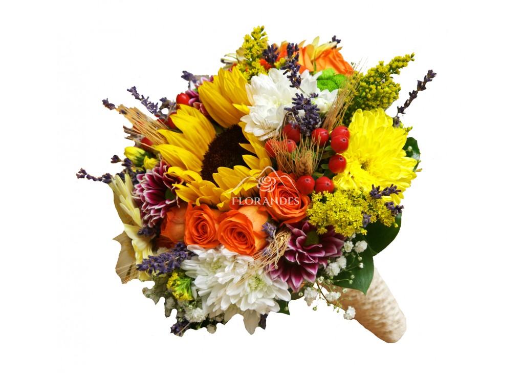Buchet De Mireasa Cu Floarea Soarelui Si Spice Buchet De Mireasa