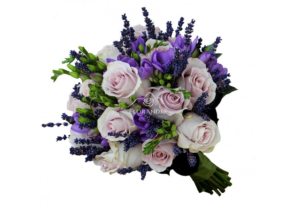 Buchet De Mireasa Cu Lavanda Si Trandafiri Modele Speciale Flori
