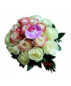 Buchet de mireasa cu trandafiri Sweetness