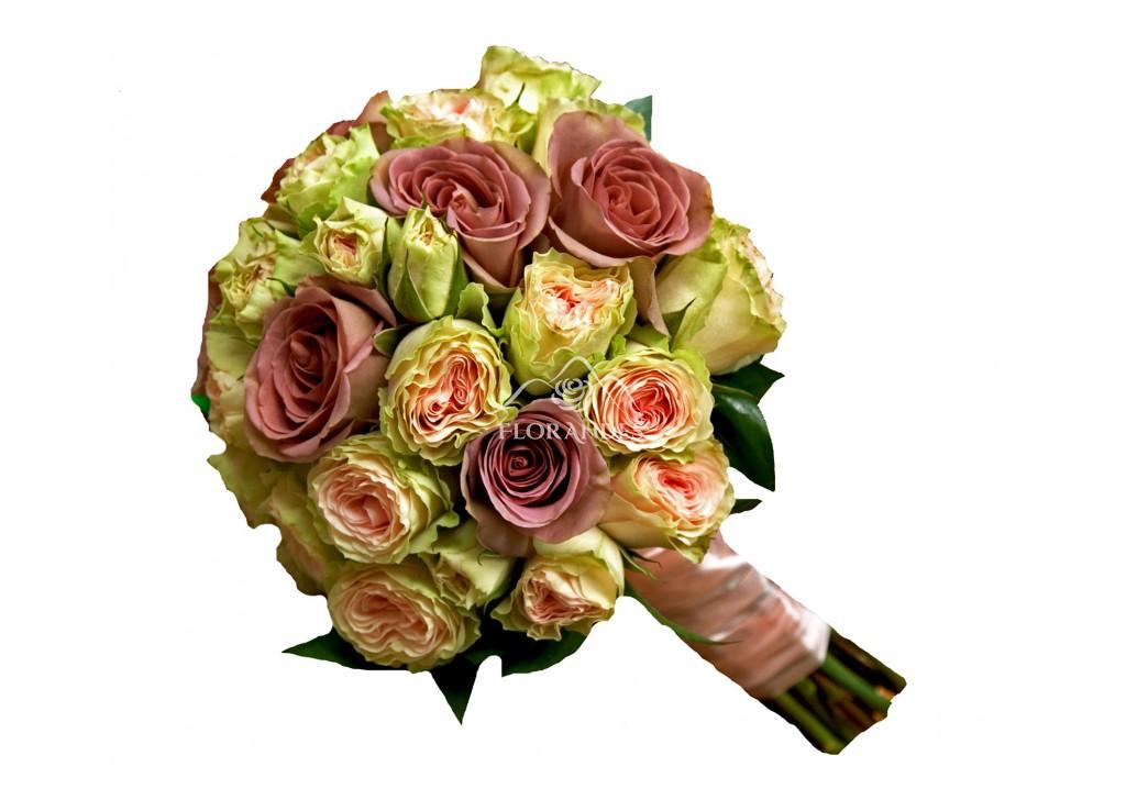 Buchet De Mireasa Cu Trandafiri Mov Amnesia Cel Mai Bun Pret
