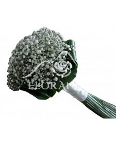 Buchet de mireasa din gypsophila alba