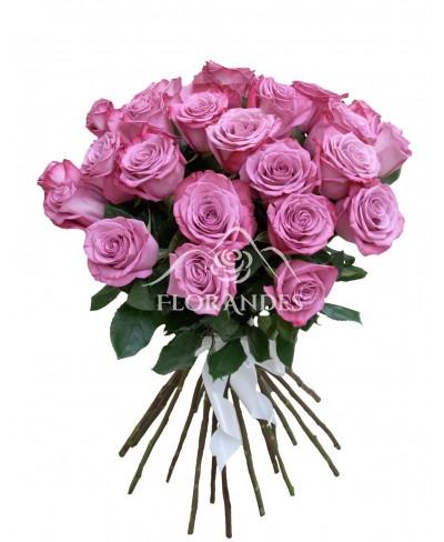 Buchet 25 trandafiri mov