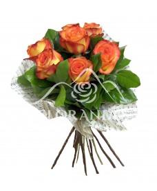 Buchet 7 trandafiri bicolori