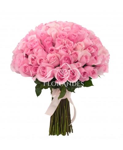 Buchet de 101 trandafiri roz