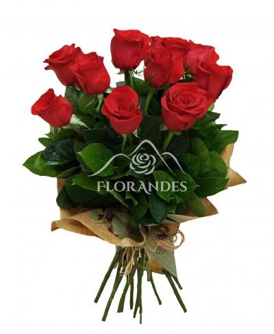 Buchet de 11 trandafiri rosii