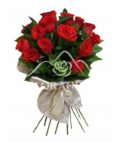 Buchet de 15 trandafiri rosii
