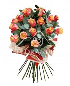 Buchet de 19 trandafiri bicolori