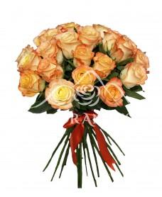 Buchet de 21 trandafiri bicolori