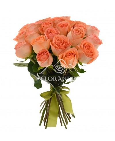 Buchet de 21 trandafiri portocalii Country Home