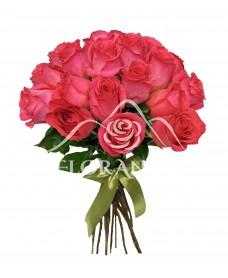 Buchet de 21 trandafiri roz ciclam