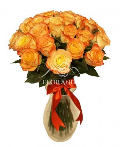 Buchet de 25 trandafiri bicolori
