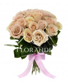 Buchet de 25 trandafiri roz Quick Sand