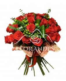 Buchet de 35 trandafiri rosii