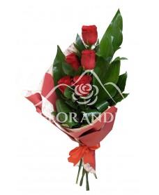 Buchet de 5 trandafiri rosii