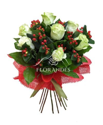 Buchet de 7 trandafiri verzi