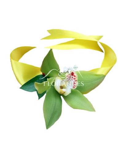 Corsaj cu orhidee verde