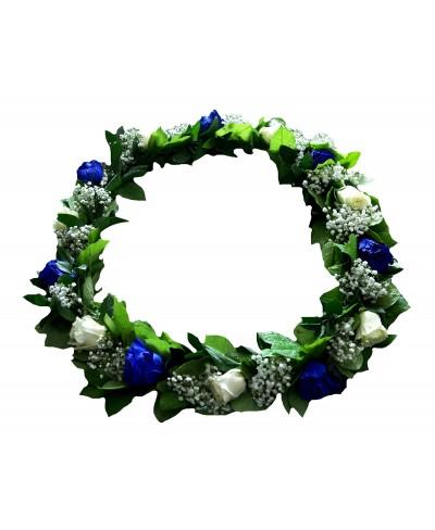 Aranjament pentru cristelnita cu trandafiri albastri