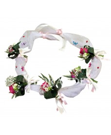 Aranjament pentru cristelnita cu trandafiri ciclam