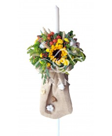 Lumanari nunta cu floarea soarelui