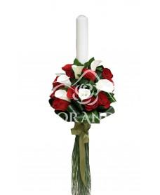 Lumanari nunta cale si trandafiri