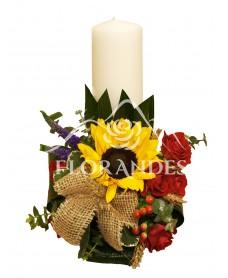 Lumanari nunta floarea soarelui