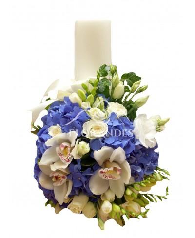Lumanari nunta orhidee si hortensie