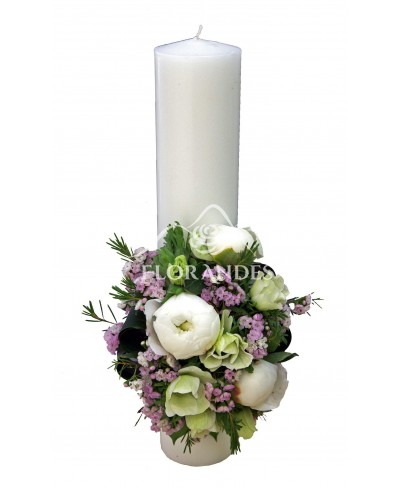 Lumanari nunta bujori si anemone