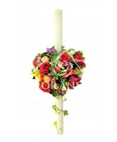 Lumanari nunta trandafiri si iedera
