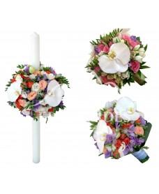 Pachet nunta cu orhidee si minitrandafiri