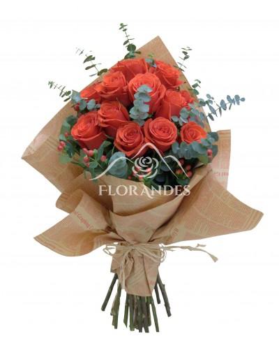 Buchet 21 trandafiri Nina