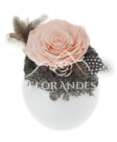 Aranjament cu trandafir criogenat roz