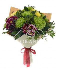 Buchet de crizanteme colorate