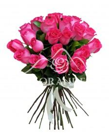 Buchet trandafiri ciclam