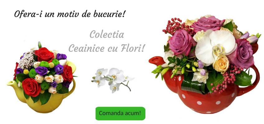 Aranjamente florale ceainice