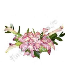 Aranjament de masa din orhidee