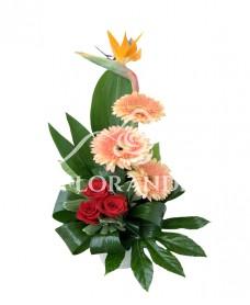 Aranjament floral gerbera