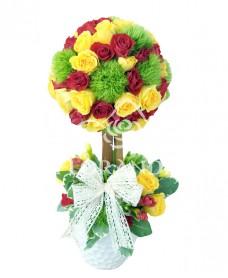 Aranjament floral minitrandafiri