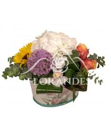 Aranjament hortensie alba