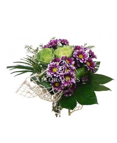 Buchet crizantema si brassica