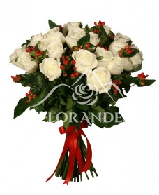 Buchet de trandafiri albi