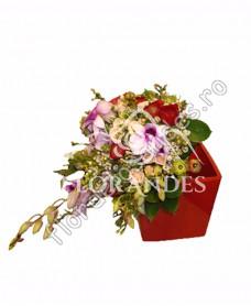 Buchet de mireasa din orhidee mov
