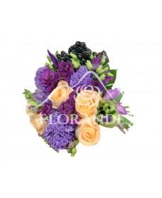 Buchet de mireasa cu trandafiri Tiffany