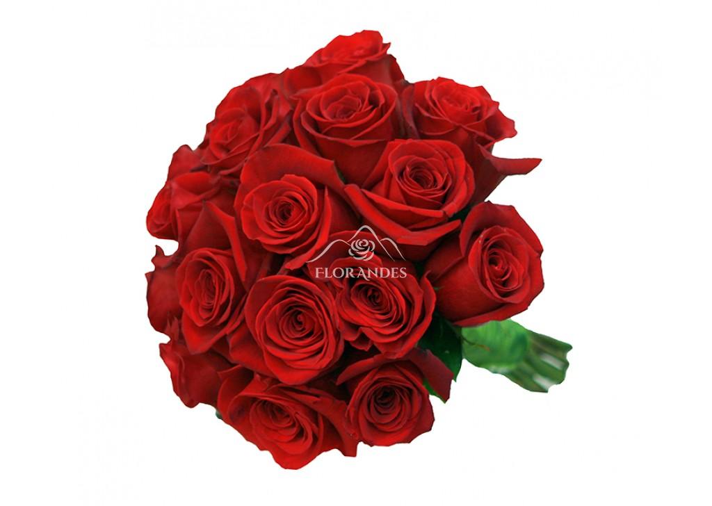 Buchet De Mireasa Din Trandafiri Rosii Freedom